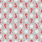 Schneeflocken Und Zuckerstangen Nahtloses Vektormuster