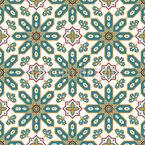 Marokkanische Sternformen Nahtloses Vektormuster