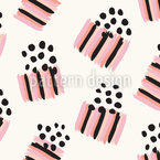 Brush Strokes And Dots Seamless Vector Pattern Design