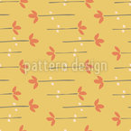 Mat Forming Flowers Seamless Vector Pattern Design
