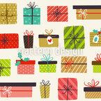 Weihnachtsgeschenk Variation Nahtloses Vektormuster