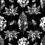 Leaf Stamps Seamless Vector Pattern Design