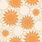 Sunflower Love Seamless Vector Pattern Design