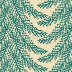 Pine Needles Seamless Vector Pattern Design