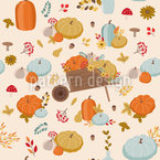 Autumn Setting Seamless Vector Pattern Design