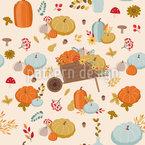 Herbst Kulisse Nahtloses Vektormuster
