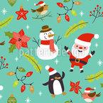 Weihnachtsstimmung Nahtloses Vektormuster
