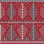 Festive Knitting Seamless Vector Pattern Design