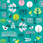 Forest Glade Seamless Vector Pattern Design