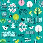 Waldlichtung Nahtloses Vektormuster