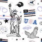 New Yorker Polizei Nahtloses Vektormuster