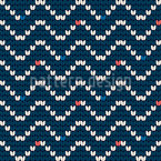Knitting Structure With Waves Seamless Vector Pattern Design