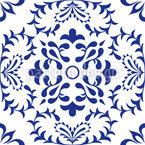 Einfache Azulejo Fliese Nahtloses Vektormuster