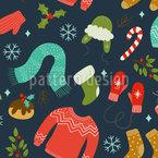 Winterliche Kleidung Nahtloses Vektormuster