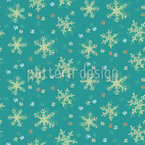 Frostiger Schneefall Nahtloses Vektormuster
