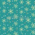 Frosty Snowfall Seamless Vector Pattern Design