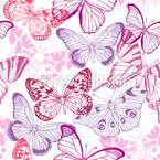 Butterfly Mix Seamless Vector Pattern Design