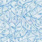 Köstliches Fensterblatt Nahtloses Vektormuster