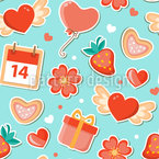Valentines Date Seamless Vector Pattern Design