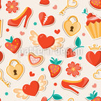 Dream Date Seamless Vector Pattern Design