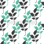 Twin Leaf Seamless Vector Pattern Design