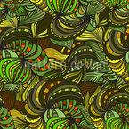 Ethno Dschungel Fantasie Nahtloses Vektormuster