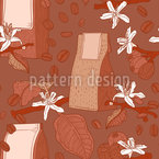 Coffee Packaging Impression Seamless Vector Pattern Design