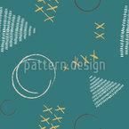 Handgezeichnete Formen Und Striche Nahtloses Vektormuster