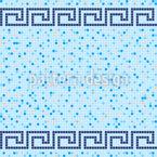 Pool Fliesen Mosaik Nahtloses Vektormuster
