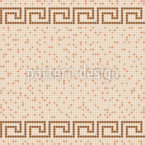 Griechisches Pool Fliesen Mosaik Nahtloses Vektormuster