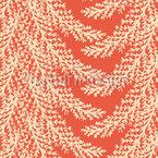 Festive Pine Needles Seamless Vector Pattern Design
