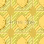 Striped Lemon Tiles Seamless Vector Pattern Design