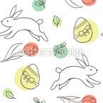 Osterhasen und Eier Nahtloses Vektormuster