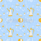 Coffee Arabica Seamless Vector Pattern Design