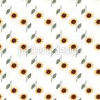Sonnenblumen Überall Nahtloses Vektormuster