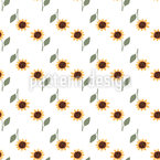 Sunflowers Everywhere Seamless Vector Pattern Design