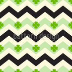 Clover Chevron Seamless Vector Pattern Design