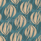 Abstract Floral Shadows Seamless Vector Pattern Design