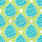 Easter Egg Stars Seamless Vector Pattern Design