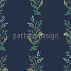 Romantic Flower Ribbons Seamless Vector Pattern Design