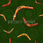 Boomerangs Seamless Vector Pattern Design