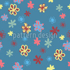 Painted Blossoms Seamless Vector Pattern Design