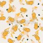 Beetles Seamless Vector Pattern Design