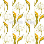 Tulip Arrangement Seamless Vector Pattern Design