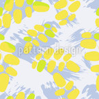 Acacia Leaf Art Seamless Vector Pattern Design