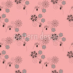 Alberne Blumen Nahtloses Vektormuster