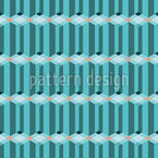 Dynamic Geometric Composition Seamless Vector Pattern Design
