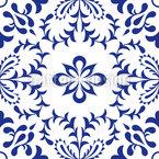 Mediterranean Fantasy Seamless Vector Pattern Design