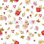 秋の夢 シームレスなベクトルパターン設計