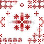 Russian Folklore Seamless Vector Pattern Design